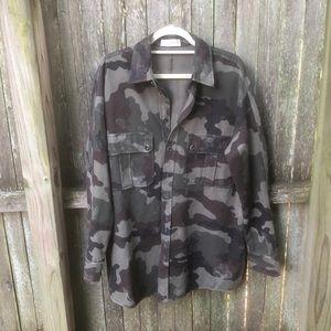 Faith Connexion NWT Camo KW shirt Army Kaki XS